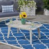 Russell Outdoor Acacia Wood Coffee Table, Weathered Gray