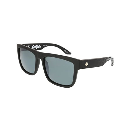 Spy Sunglasses 673119150713 Discord HD Plus Mirrored Lenses Scratch Resistant Square Shaped, Matte Black Leopard Fade ()