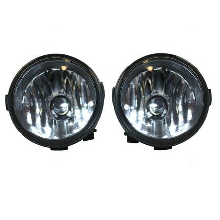 Pair Set Fog Lights Fog Lights Lamps Replacement for Infiniti Nissan SUV Van 26150-8993B
