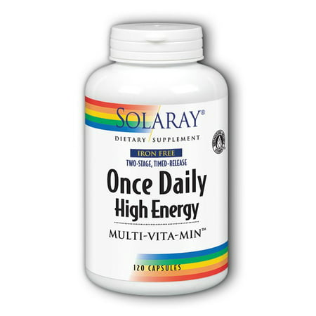 Solaray Once Daily High Energy Multi-Vita-Min Capsules, 120 Ct