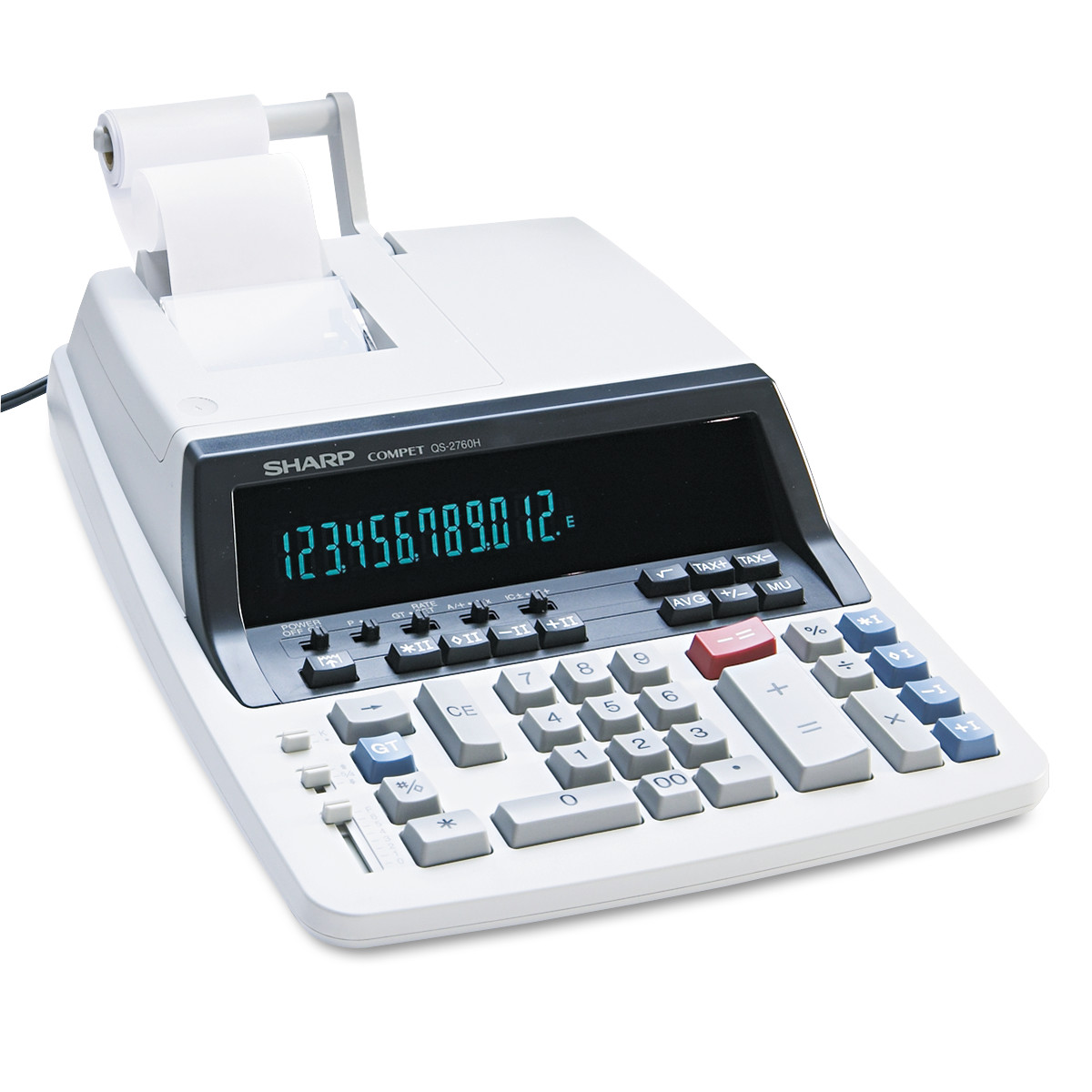 Sharp QS-2760H Two-Color Ribbon Printing Calculator, Black Red Print, 4.8 Lines Sec by Sharp Electronics