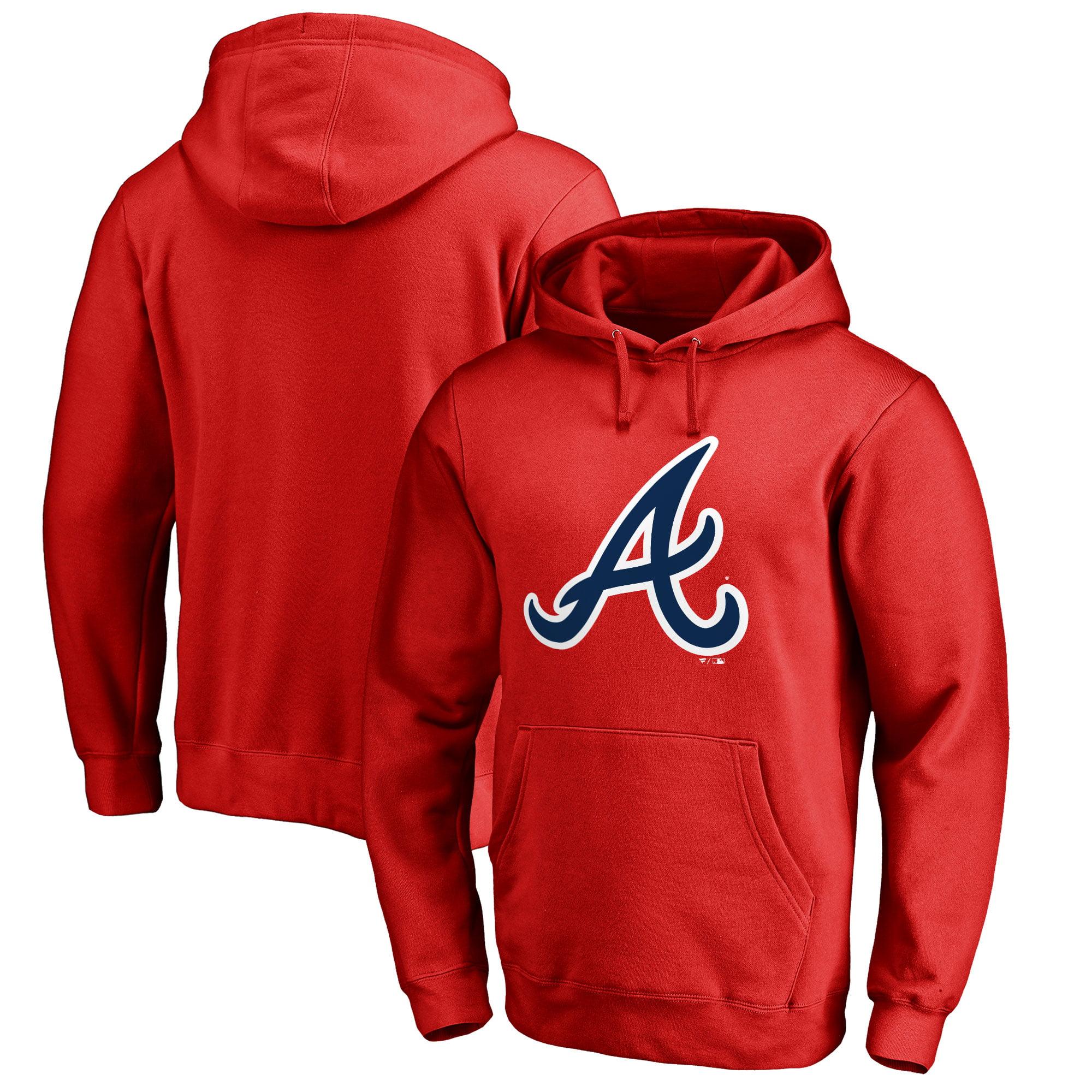 Atlanta Braves Big & Tall Primary Team Logo Pullover Hoodie - Red
