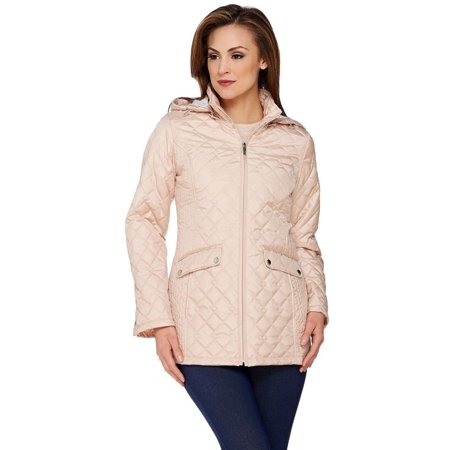 Liz Claiborne NY Packable Quilted Jacket Hood A273558