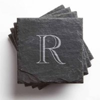 Personalized Traditional Initial Set of 4 Slate Coasters