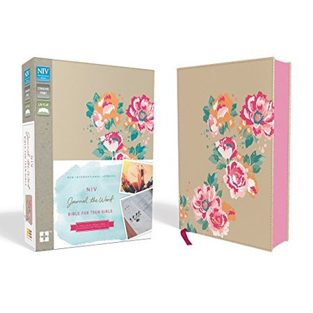 NIV, Journal the Word Bible for Teen Girls (Gold/Floral Leathersoft Over Board) - image 1 de 1
