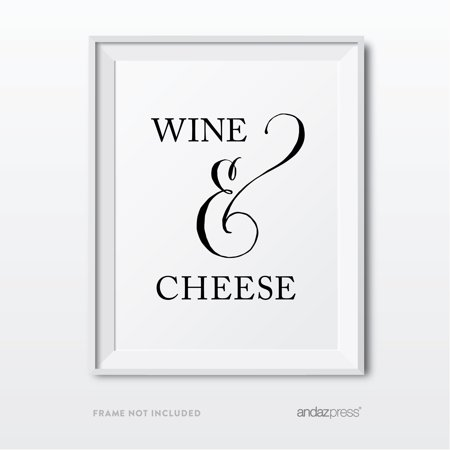 Wine & Cheese Formal Black & White Wedding Party