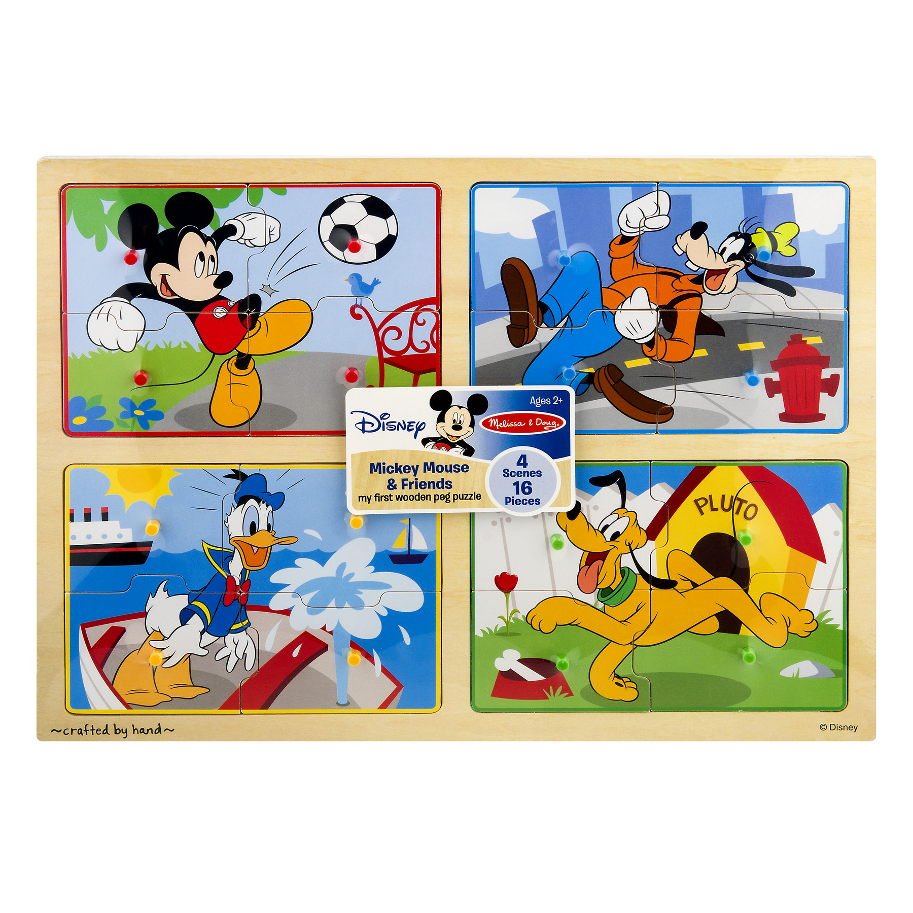 Melissa & Doug Disney Baby Mickey & Friends My First Wooden Peg Puzzle