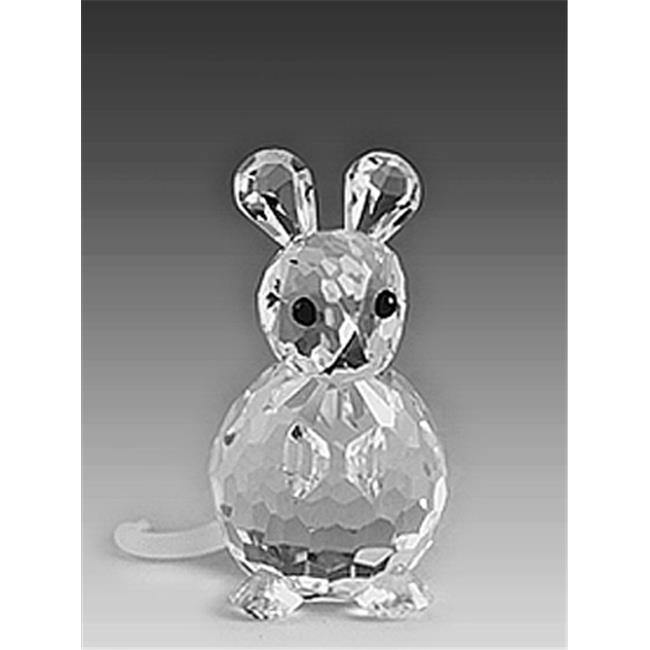 Asfour Crystal 653-17 1. 18 L x 1. 06 H inch Crystal Mouse Animals Figurines