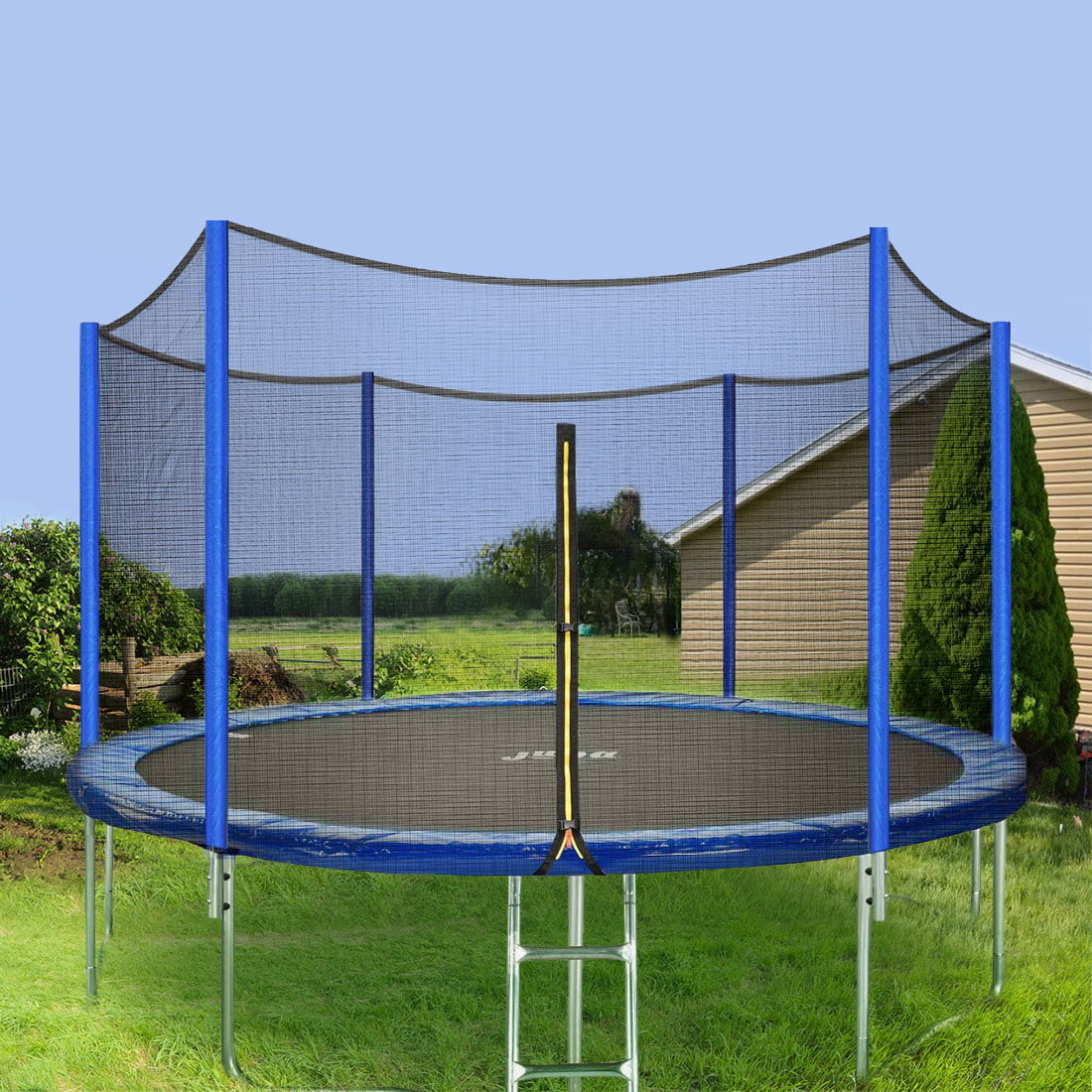 Jupa 15FT Trampoline With Enclosure, Backyard Trampoline
