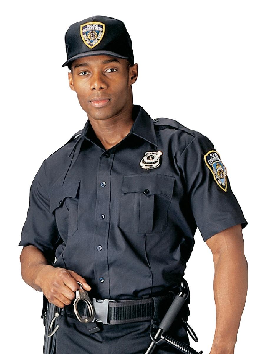 Navy Blue Short Sleeve Police, Security Uniform Shirt