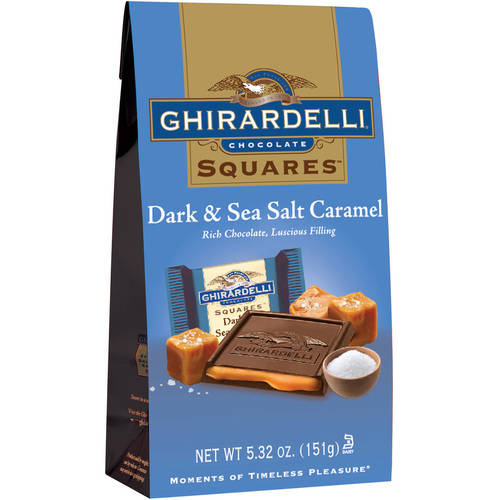 Ghirardelli Dark & Sea Salt Caramel Chocolate Squares, 5.32 oz
