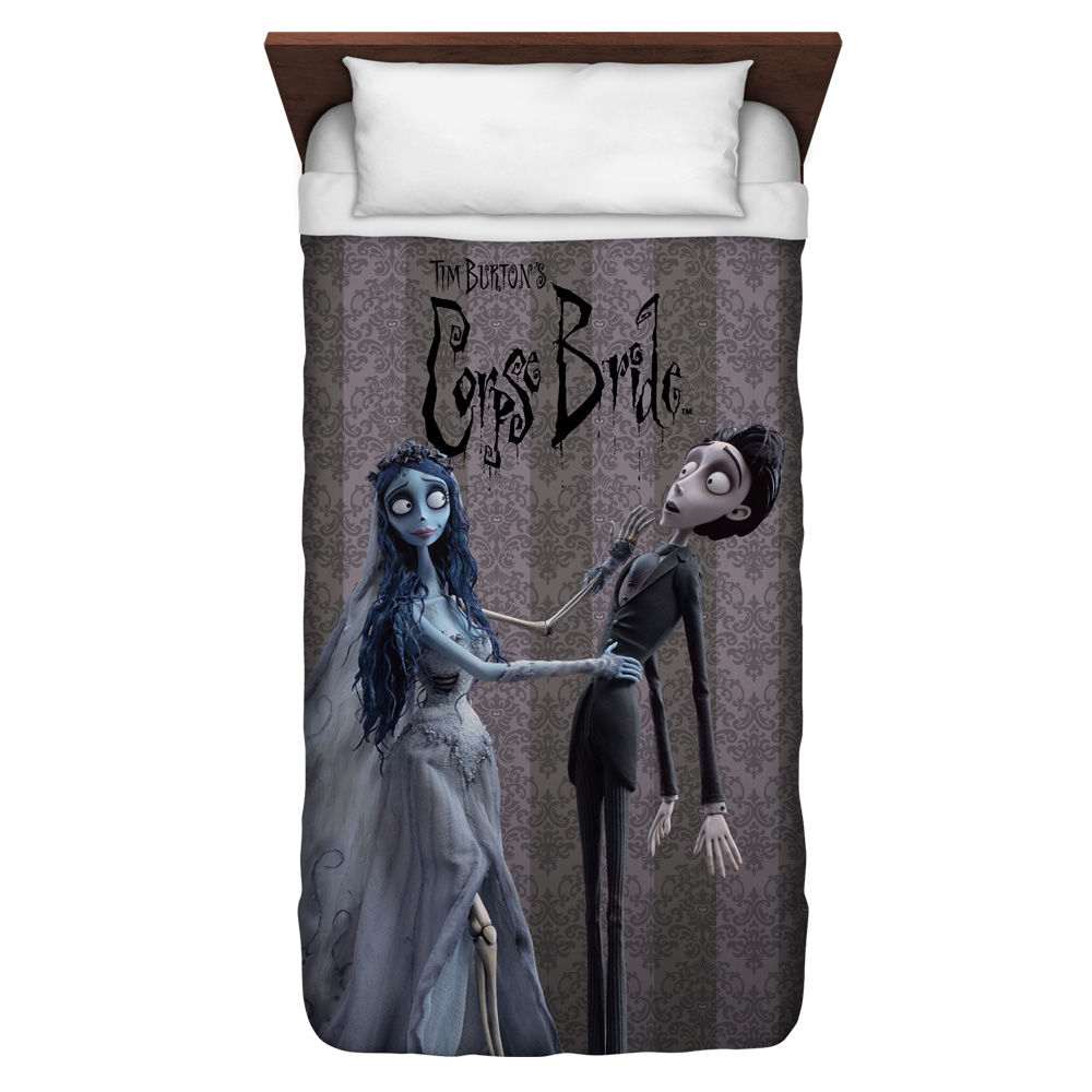Corpse Bride Bride And Groom Twin Duvet Cover White 68X88