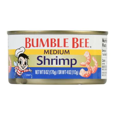 Bumble Bee Regular Medium Shrimp, 4oz can