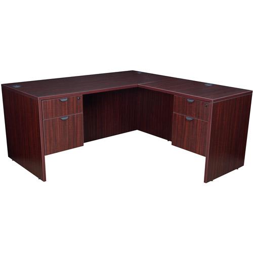 """Regency 71"""" Corner Desk with Pedestals and Return"""