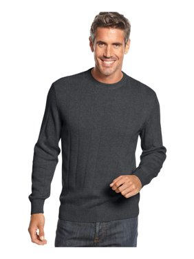 John Ashford Mens Solid Pullover Sweater, Grey, Big 2X