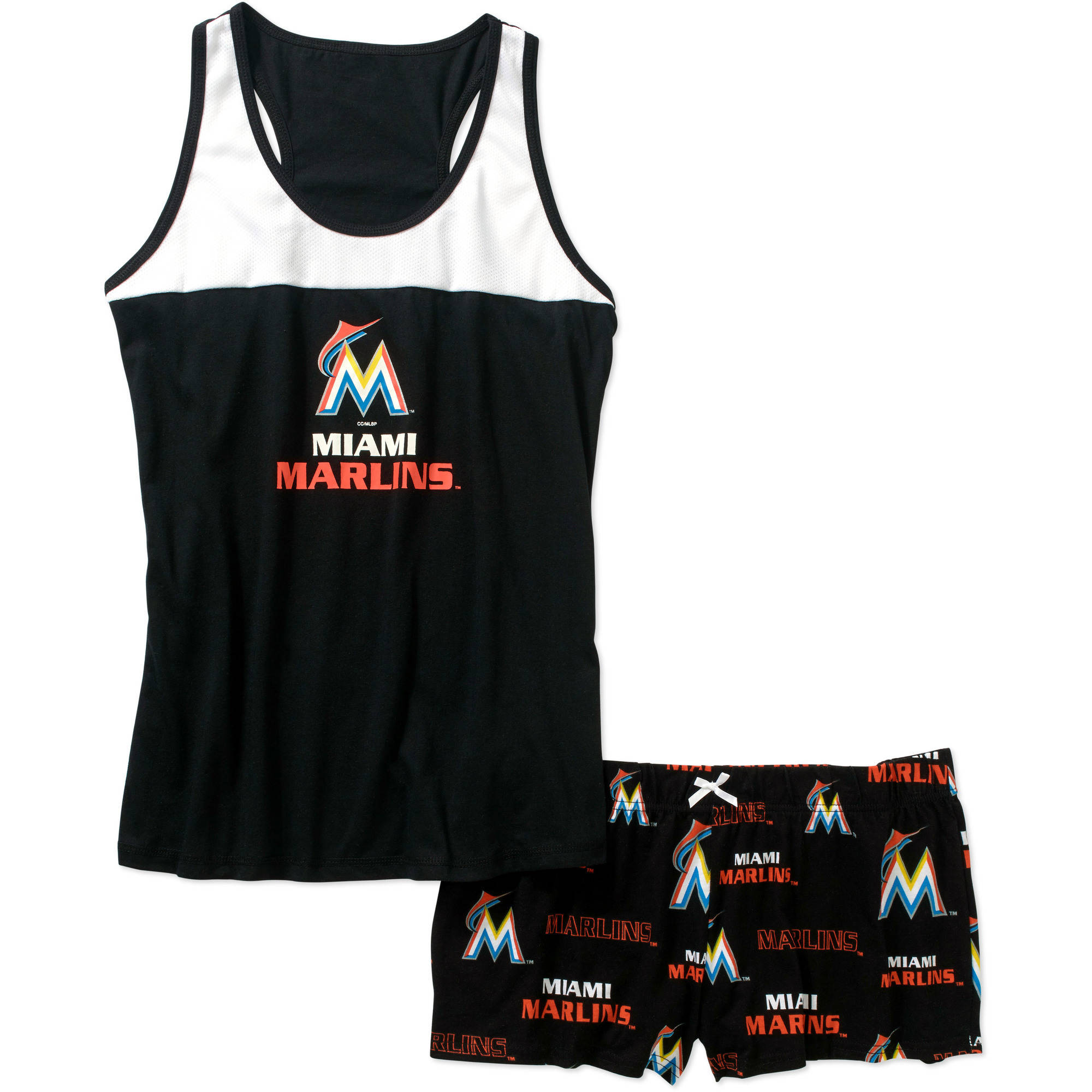 MLB Women's Miami Marlins Tank and Short Set