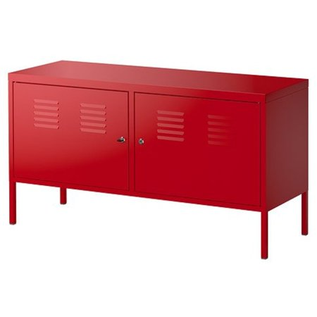 Ikea Cabinet, Red 1824.225.382
