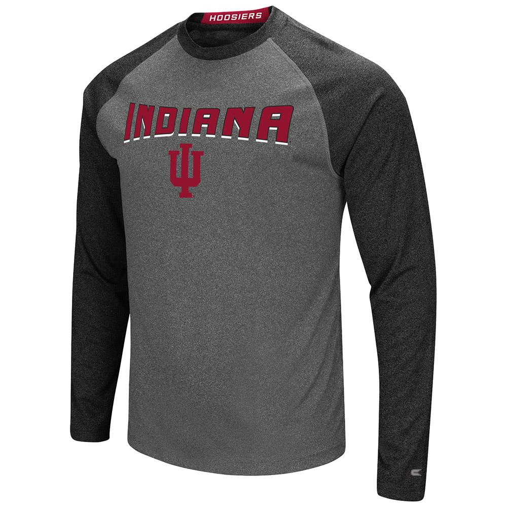 Mens Indiana Hoosiers Long Sleeve Raglan Tee Shirt - S