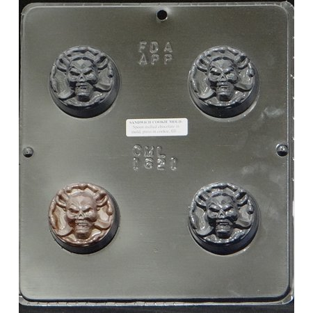 1621 Skull Oreo Cookie Chocolate Candy Mold (Sugar Skull Molds)