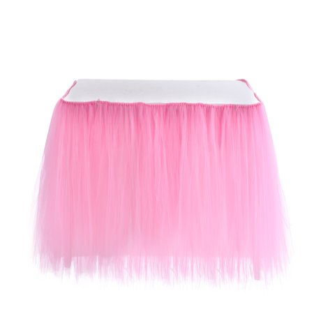 Table Skirt 1 Yard Centerpiece Tableware Cover for Wedding Birthday Baby Shower Slumber Party Decoration ()