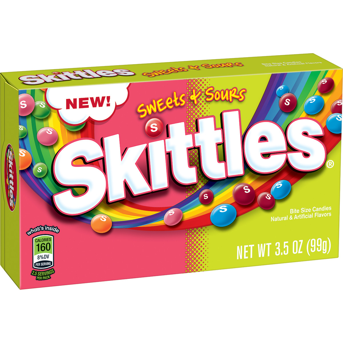 Skittles Sweets + Sours Bite Size Candies, 3.5 oz