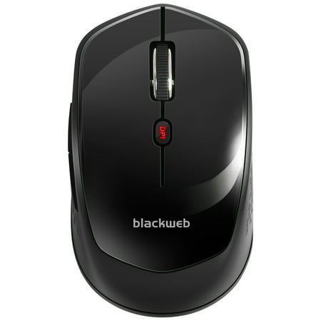 Contour Design Black Mouse (BlackWeb 6-Button Wireless Mouse, Black)