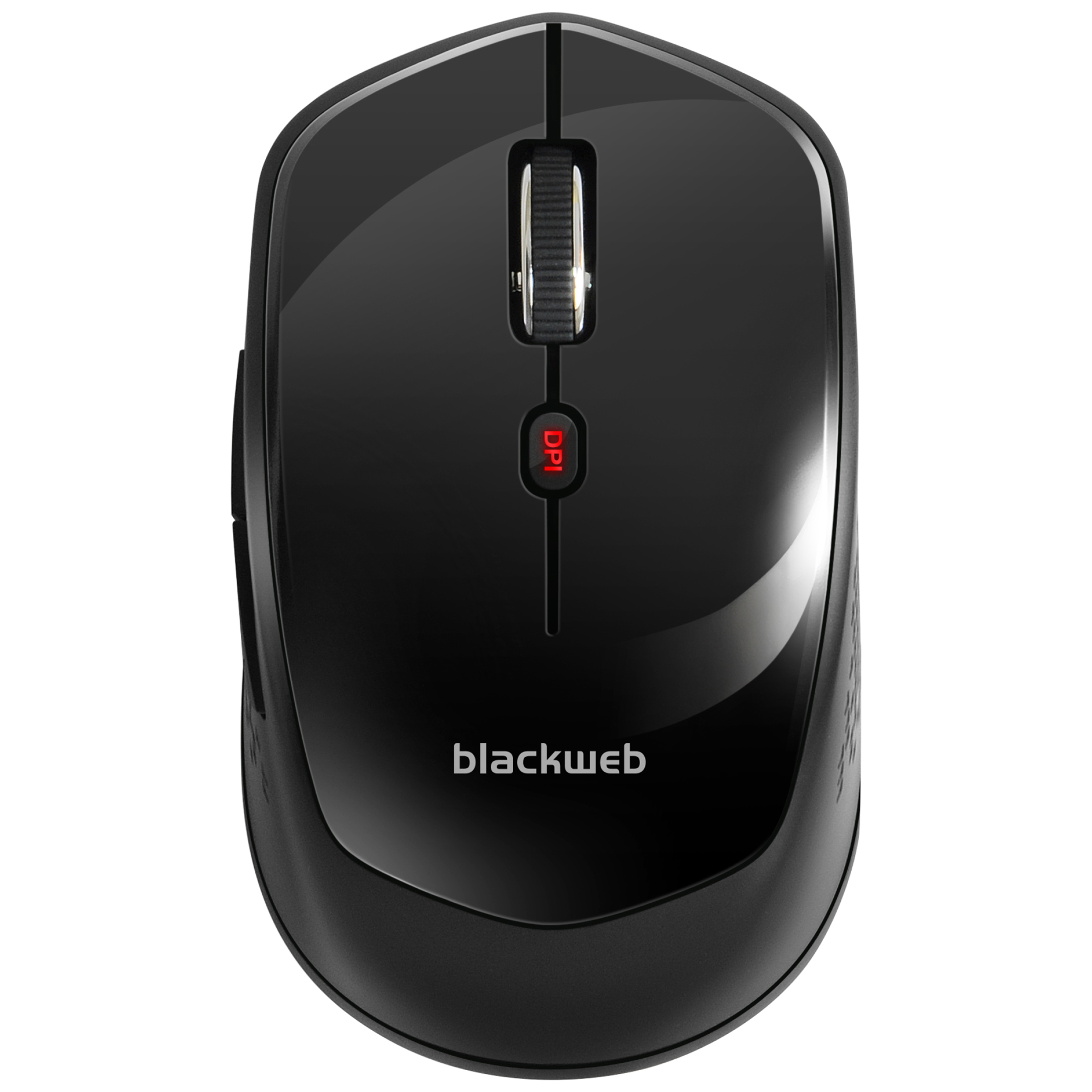 BlackWeb 6-Button Wireless Mouse, Black