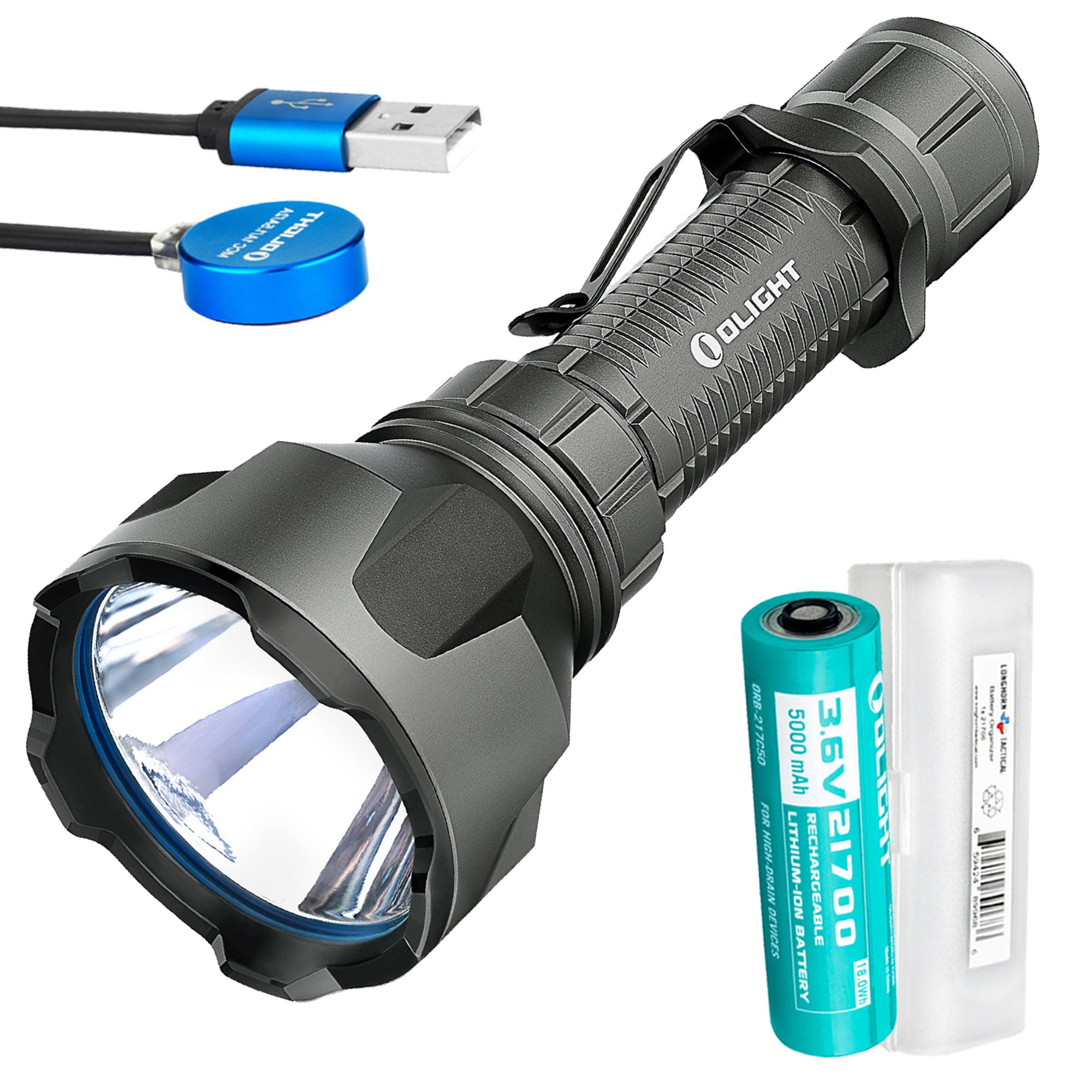 Olight Warrior X Turbo Black 1000 Yard Long Throw Rechargeable Flashlight