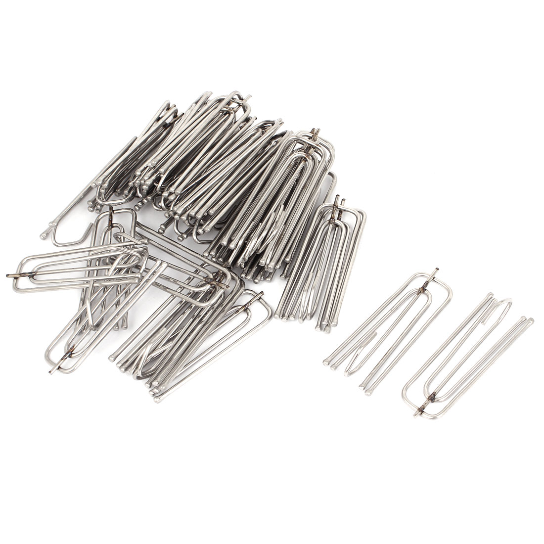 Stainless Steel Deep Pinch Prong Window Curtain Pleat Hooks Pleated 35pcs