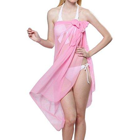 abc4d0a100589 Tanu Collections - TC Sheer Chiffon Swim Beach Sarong Wrap Skirt Cover-up  66