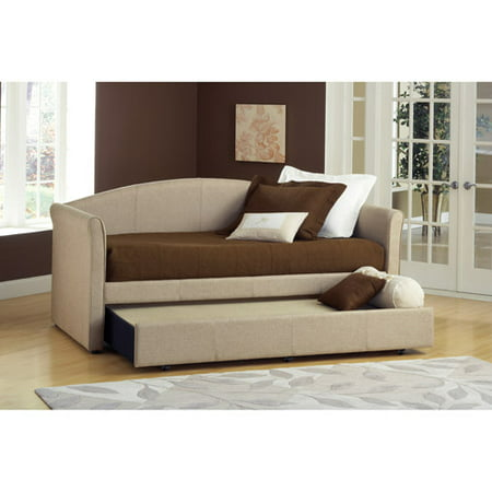 Celeste Twin Daybed With Trundle Beige Tweed Walmart Com