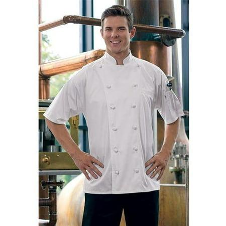 0493EC-2508 Short Sleeve Master Chef Coat in White - 4XLagre (Circus Master Jacket)