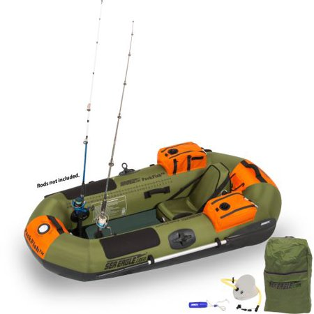 Sea Eagle PackFish7 Inflatable Fishing Boat Pro Fishing Package
