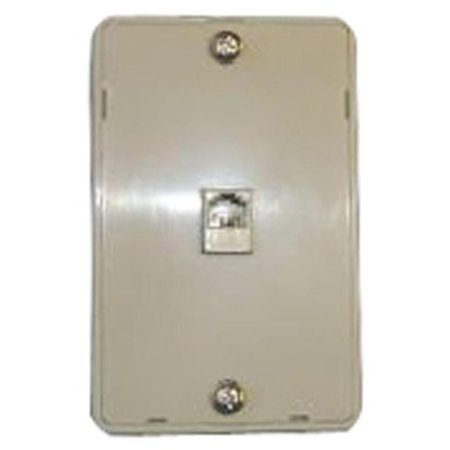 Mounted Point - Phone Jack, Modular Wall Mount Black Point TV Wire and Cable BT-021 IVORY