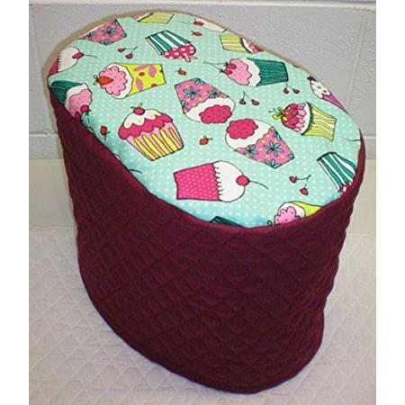 Teal Cupcake Instant Pot Pressure Cooker Cover (Burgundy, 6 Quart)