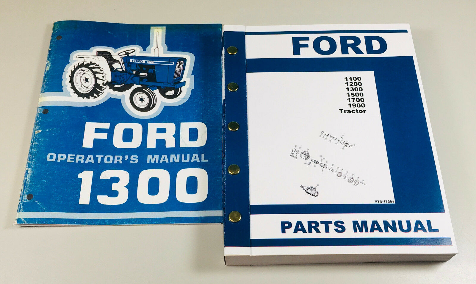 Ford 1300 Tractor Owners Operators Manual Parts Catalog
