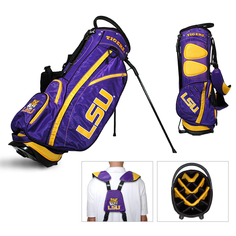 LSU Tigers Team Golf Fairway Lightweight 14-Way Top Golf Club Stand Bag by