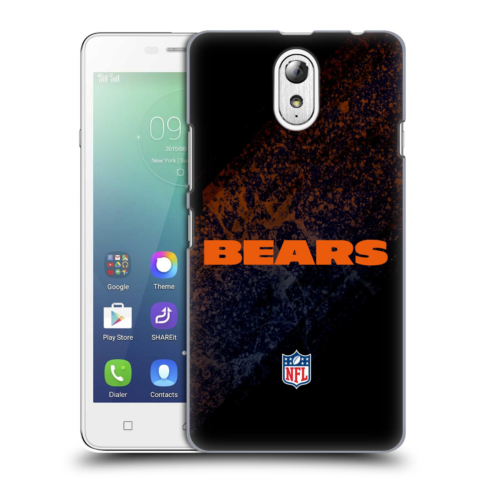 OFFICIAL NFL CHICAGO BEARS LOGO HARD BACK CASE FOR LENOVO PHONES