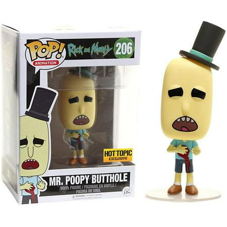 Funko Rick & Morty POP! Animation Mr. Poopy Butthole Vinyl Figure [Gunshot (Judge Judy Handyman Shows Off Gunshot Wounds)