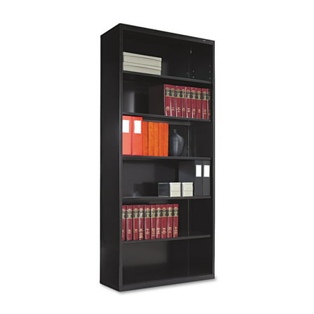 Tennsco Metal Bookcase, Six-Shelf, 34-1/2w x 13- - Tennsco Metal Bookcase, Six-Shelf, 34-1/2w X 13-1/2d X 78h, Black