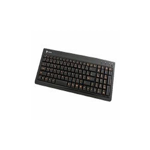 I-Rocks KR-6820E-BK Compact LED Back-lit Slim - Keyboard - USB - black