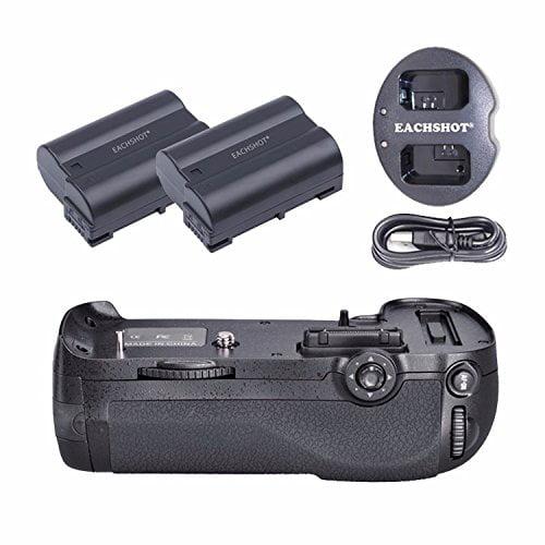 EACHSHOT ES_D800 + 2PCS EN_E;15 Battery + Charger, MB_D12...