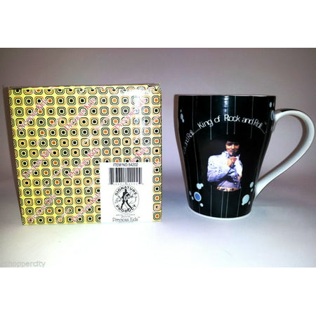 Elvis Presley 12 OZ Ceramic Coffee Mug with Gift Box Tea Love Me Tender Song Memorial Love Me - Elvis Fan Mug