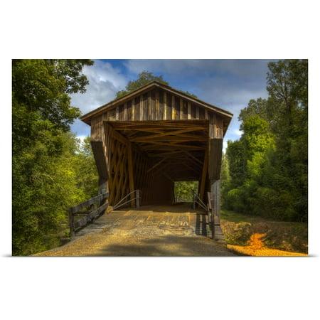 Great Big Canvas Joanne Wells Poster Print Entitled Georgia  Oldest Wooden Covered Bridge In Georgia