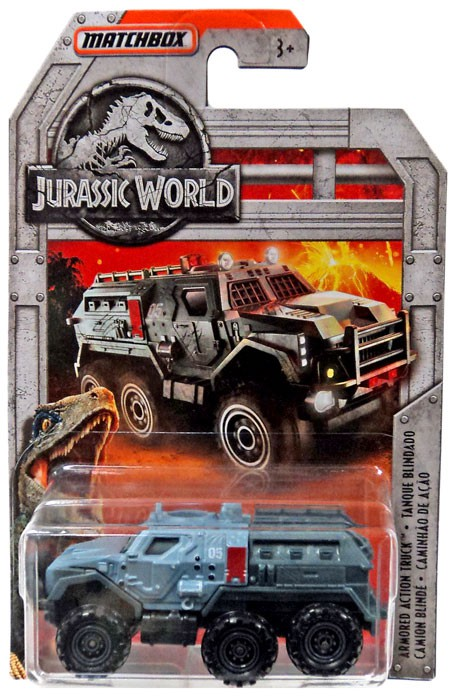 Jurassic World Matchbox Armored Action Truck Diecast Vehicle by