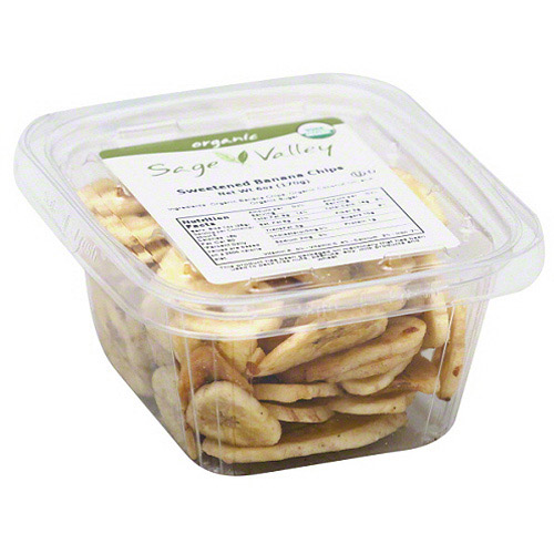 Sage Valley Sweetened Banana Chips, 6 oz (Pack of 6)