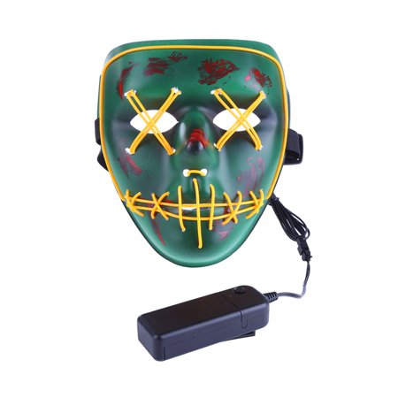 SWEETLIFE Funny LED Light Mask Up Mask for Festival Cosplay Halloween Costume Cosplay - Bruce Lee Halloween Mask