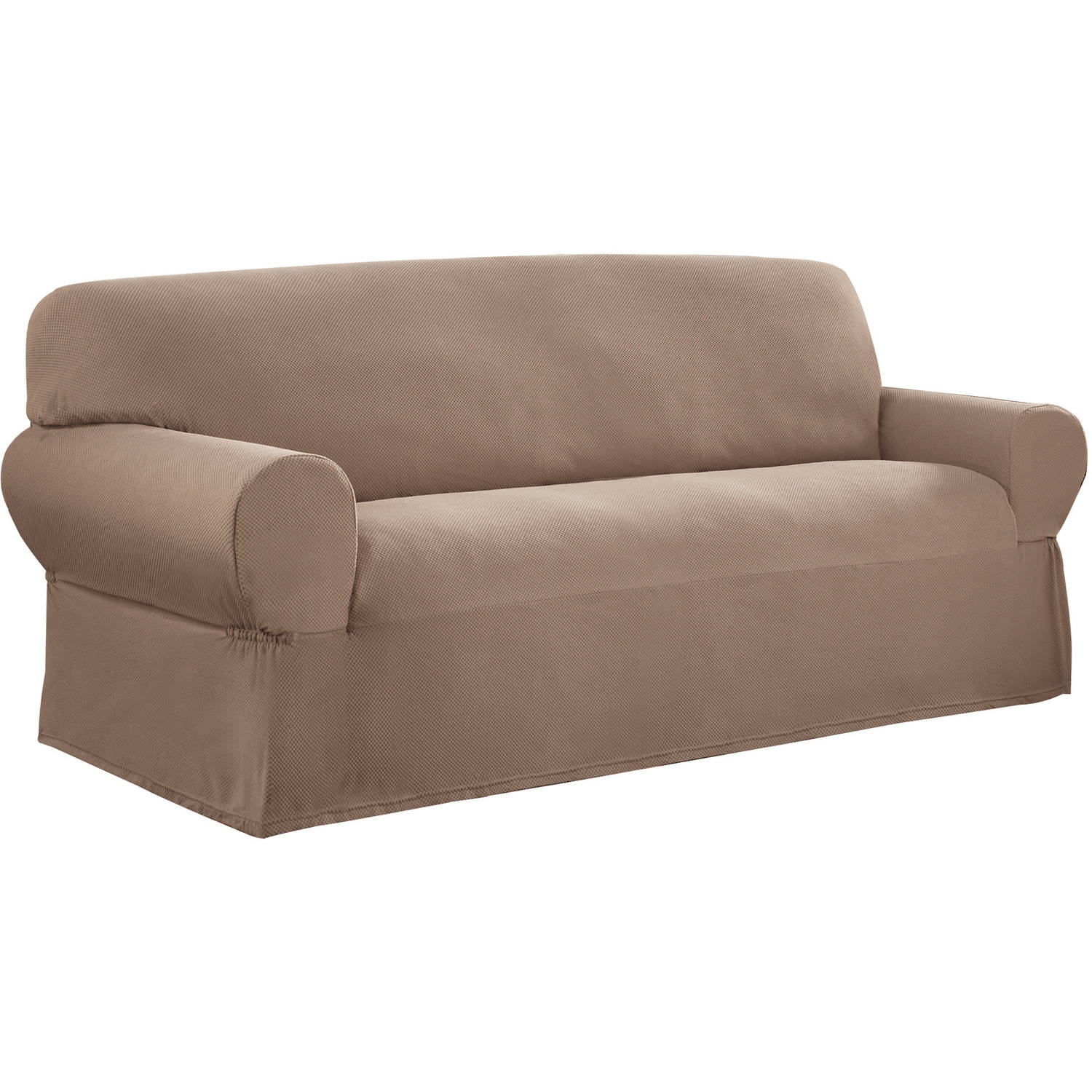 Mainstays 1Piece Stretch Fabric Sofa Slipcover Walmartcom