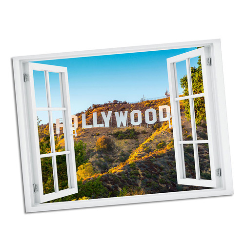 Hollywood Paradise Window Art 36x48 Wall Decal