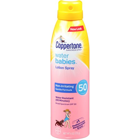 Coppertone WaterBABIES Sunscreen Quick Cover Spray SPF 50, 6 oz